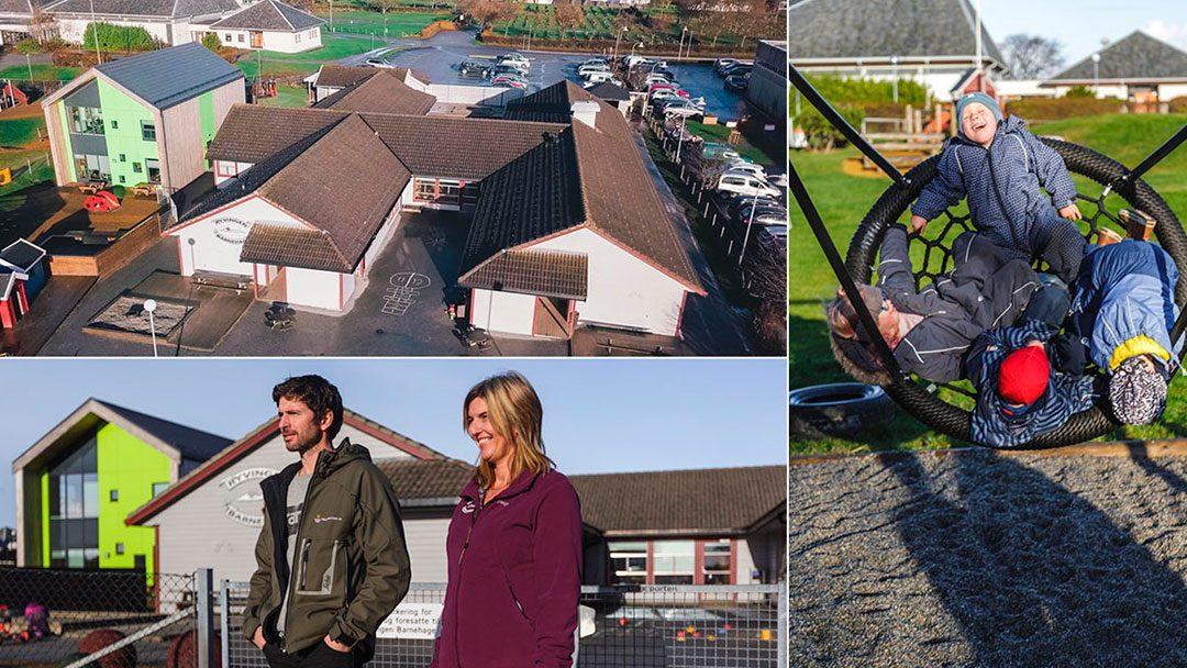 Er dette Åkrehamns mest tilrettelagte barnehagebygg for de minste?