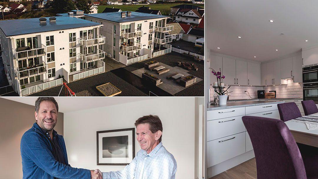 Bli med hjem i denne flotte leiligheten til Svein og Wenche i Åkrehamn