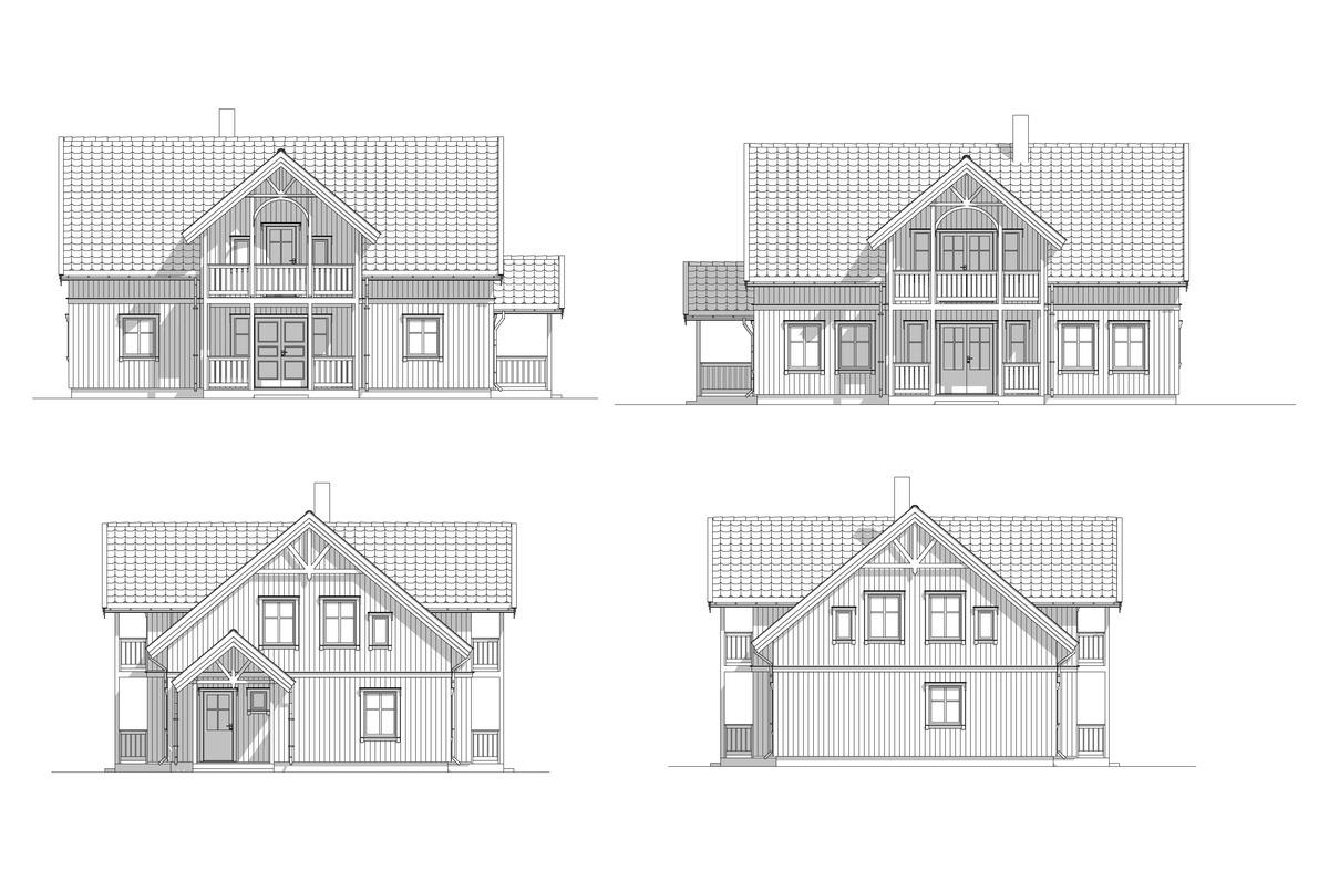 Blink Hus Aurdal fasader