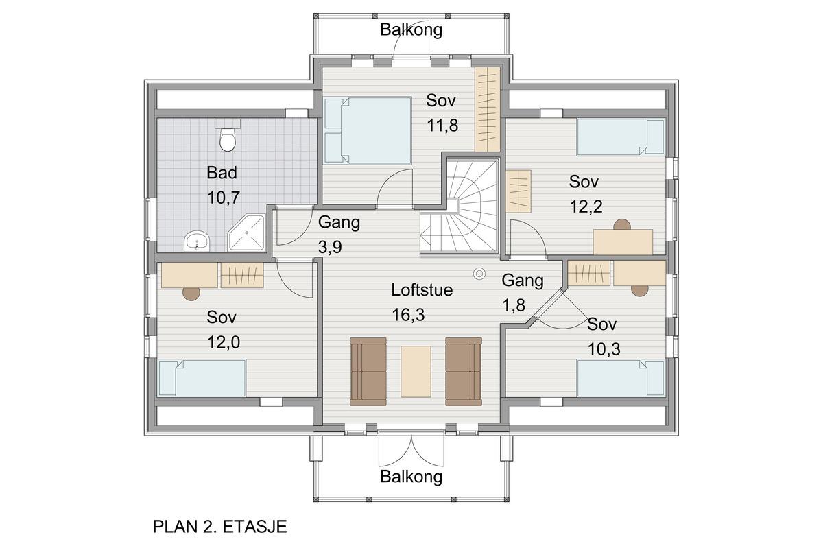 Blink Hus Aurdal plan 2. etg.