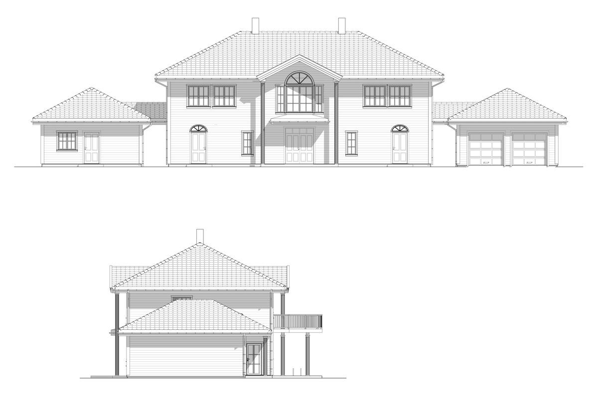 Blink Hus Nesøya Fasade 3 og 4