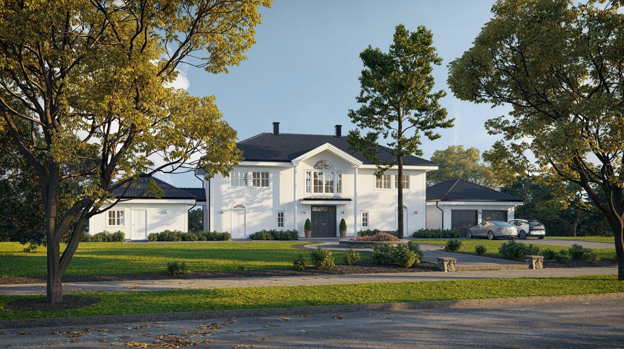 Blink Hus Nesøya inngangsparti