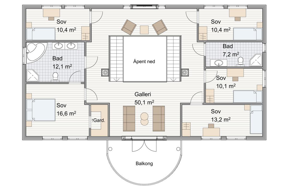 Blink Hus Nesøya plan 2. etg.