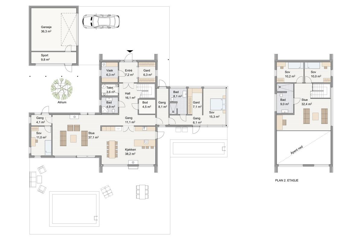 Blink Hus Tromsø plan 1 og 2