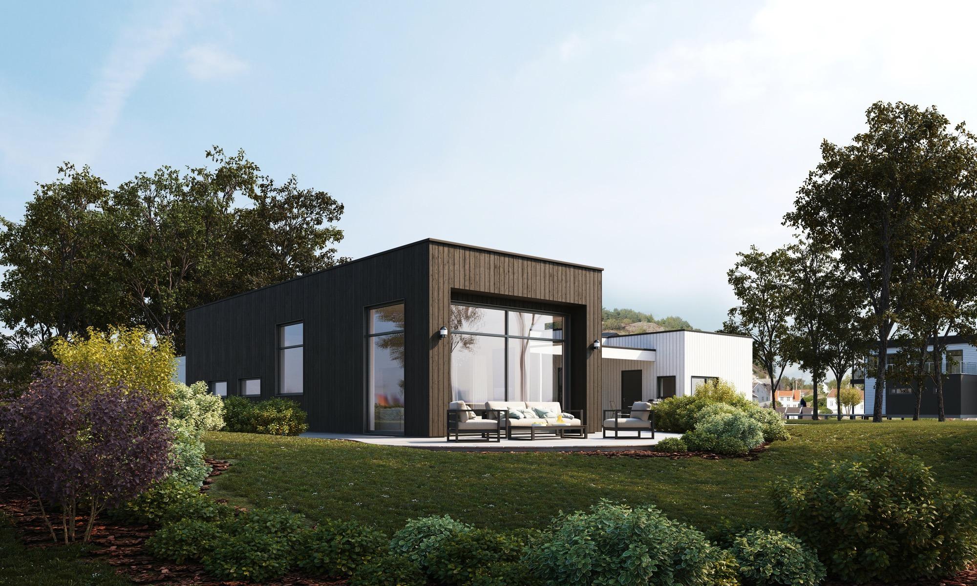 Blink hus Ekeberg hageside