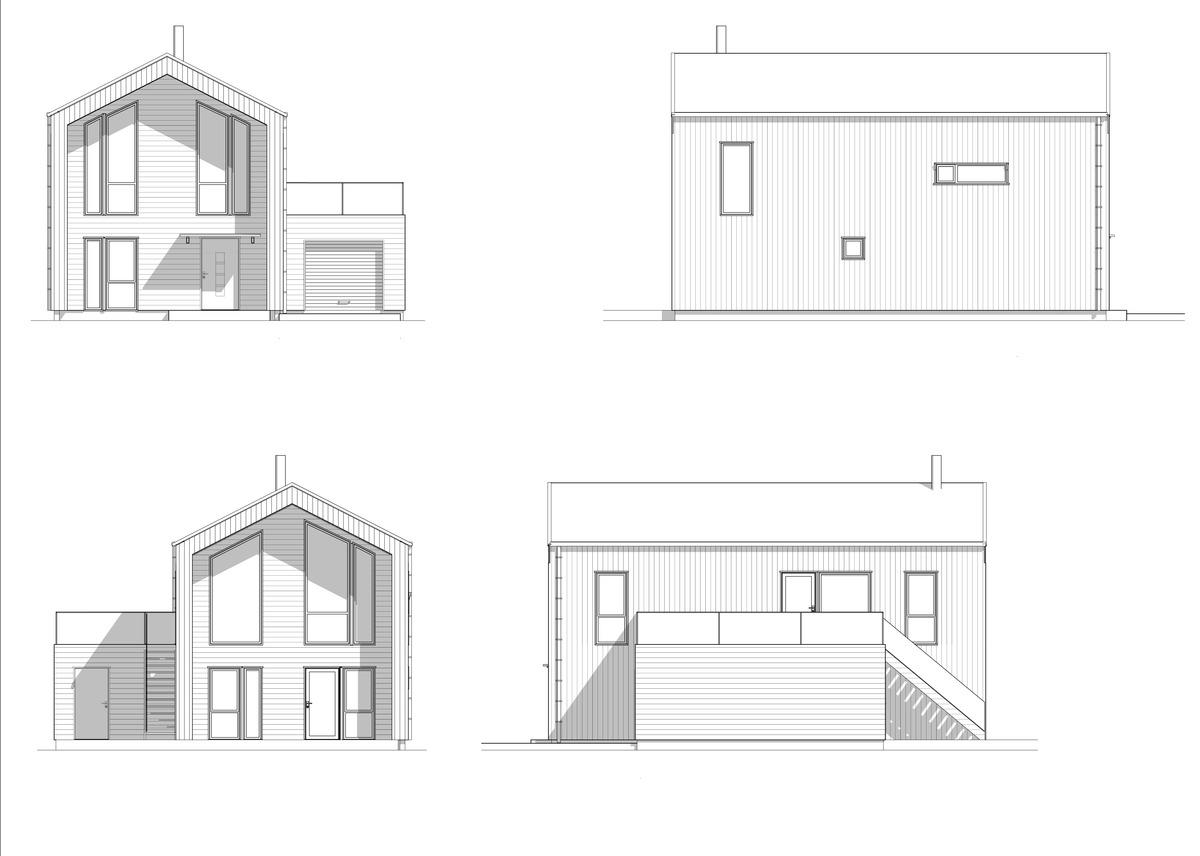 Blink hus Farsund fasader