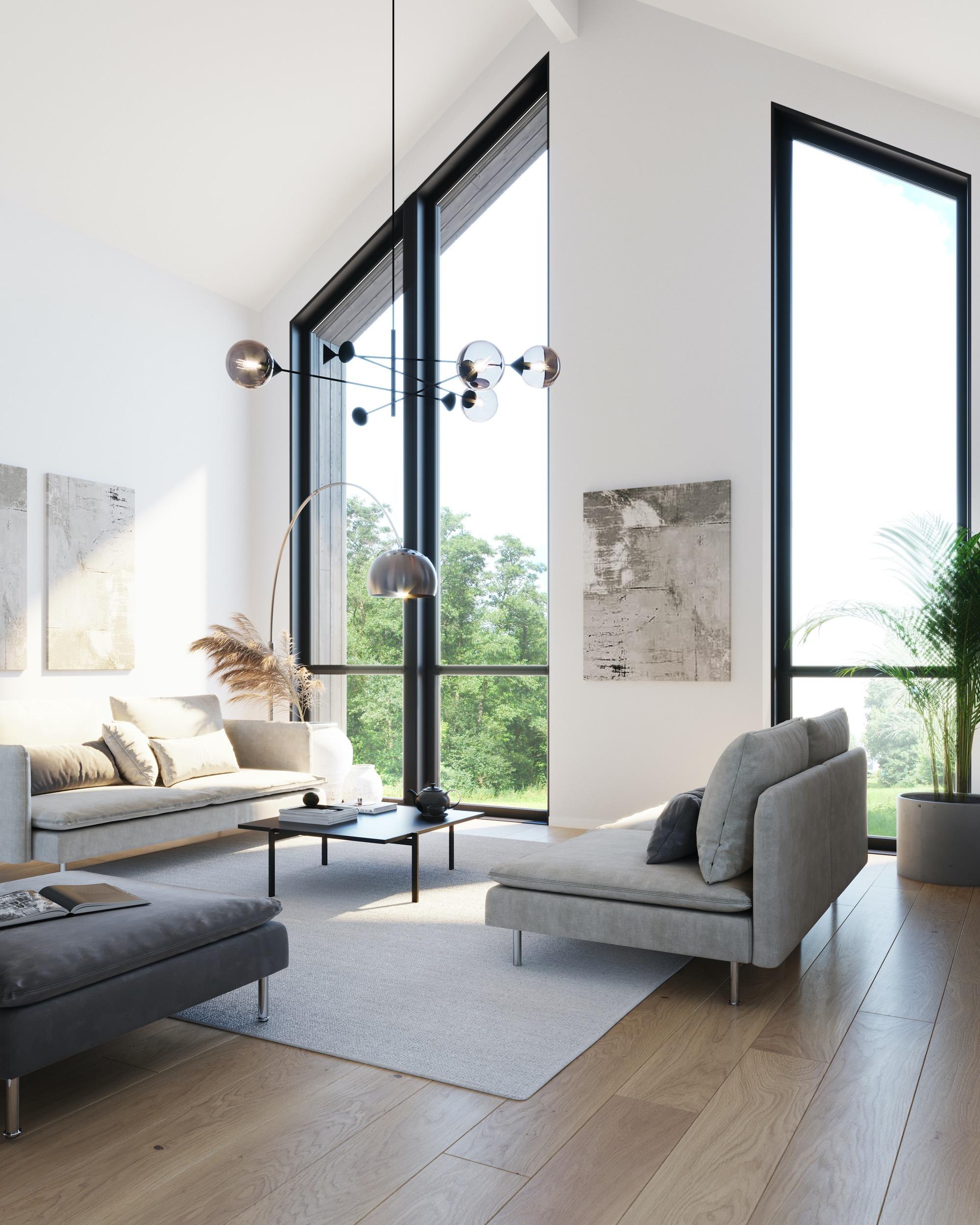 Blink hus Kongsberg stue
