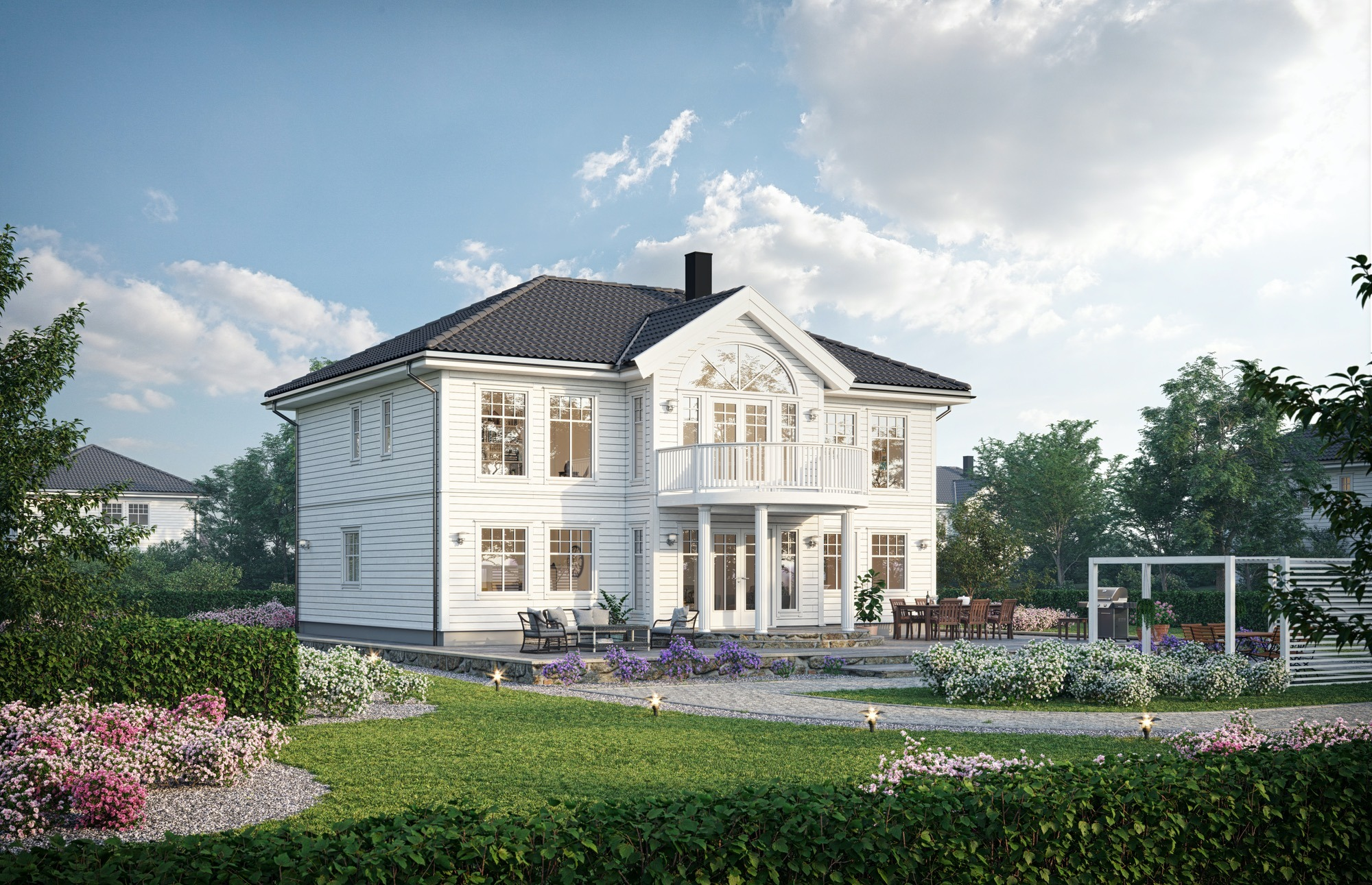 Blink hus Sandviken Hovedperspektiv