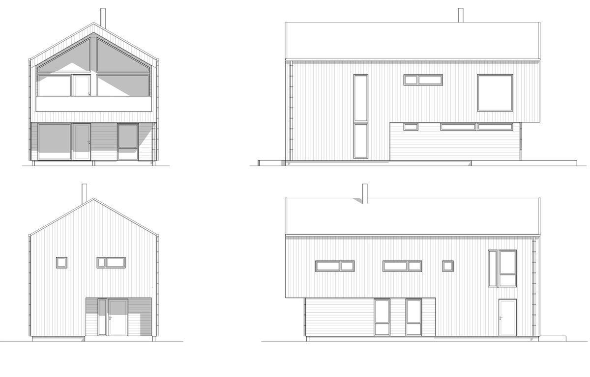 Blink hus Tønsberg 4 fasader