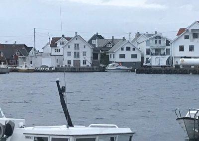 Slik så sjøhuset i Åkrehamn ut før det ble revet og gjennoppbygget.