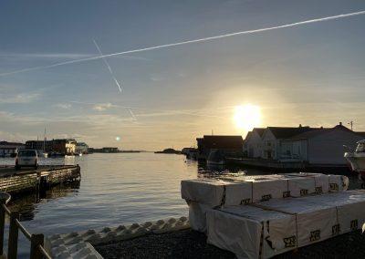 Utsikt fra sjøhuset i Åkrehamn