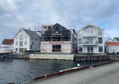 Sjøhus på Karmøy - utvendig arbeid